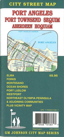 Buy map Port Angeles, Port Townsend, Sequim, Aberdeen and Hoquiam, Washington by GM Johnson