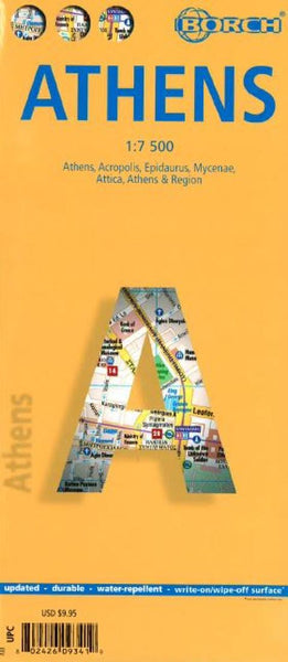 Buy map Athens, Greece by Borch GmbH.