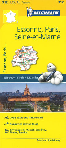 Buy map Michelin: Essone, Paris, Seine Et Marne Tourist and Road Map by Michelin Travel Partner