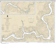 Buy map FRANKLIN D. ROOSEVELT LAKE Southern part (18551-8) by NOAA
