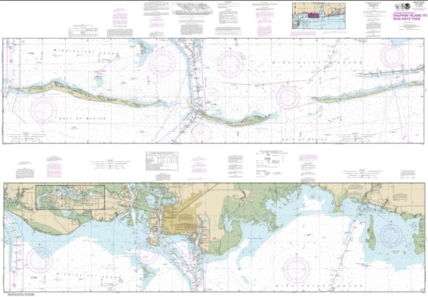 Buy map Intracoastal Waterway Dauphin Island to Dog Keys Pass (11374-37) by NOAA