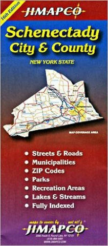 Buy map Schenectady County, New York by Jimapco