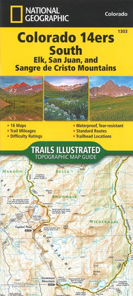 Buy map Colorado 14ers South, Map 1303 by National Geographic Maps
