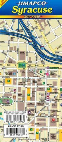 Buy map Syracuse, New York, Quickmap by Jimapco