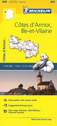 Buy map Cotes D Armor, Ille Et Villain, France (309) by Michelin Maps and Guides