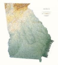 Buy map Georgia, Physical, Laminated Wall Map by Raven Maps