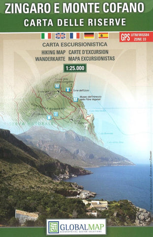 Buy map Zingaro and Monte Cofano, Italy by Litografia Artistica Cartografica