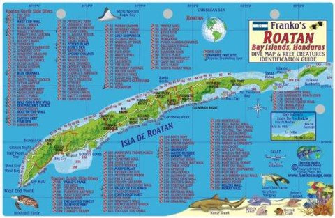 Buy map Caribbean Fish Card, Roatan 2011 by Frankos Maps Ltd.