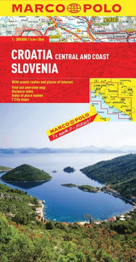 Buy map Croatia, Central and Coast and Slovenia by Marco Polo Travel Publishing Ltd