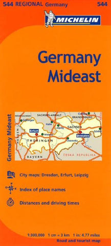 Buy map Germany, Mideast (544) by Michelin Maps and Guides