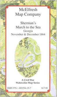 Buy map Shermans March to the Sea by McElfresh Map Co.