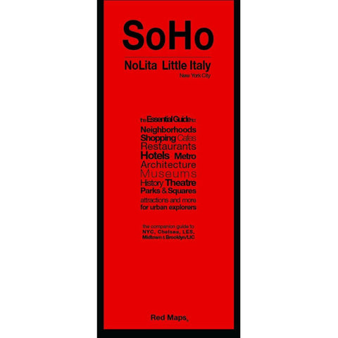 Buy map SoHo, Nolita and Little Italy, New York City by Red Maps