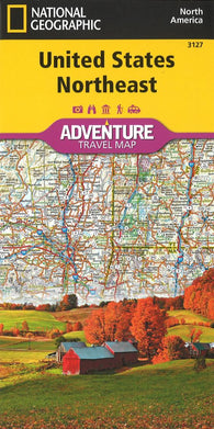 Buy map U.S. Northeast Adventure Map (3127) by National Geographic Maps
