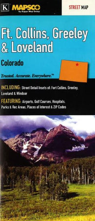 Buy map Ft. Collins, Greeley and Loveland, Colorado by Kappa Map Group