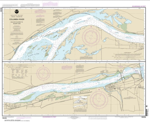Buy map Columbia River Blalock Islands to McNary Dam (18539-9) by NOAA