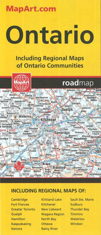 Buy map Ontario Road Map by Canadian Cartographics Corporation