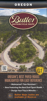 Buy map Oregon G1 by Butler Motorcycle Maps