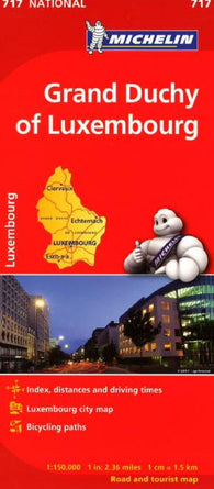 Buy map Grand Duchy of Luxembourg (717) by Michelin Maps and Guides