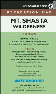 Buy map Mount Shasta, California by Wilderness Press
