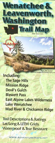Buy map Wenatchee and Leavenworth, Washington, Trail Map by Adventure Maps