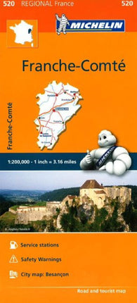 Buy map Franche Comte (520) by Michelin Maps and Guides