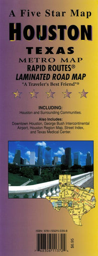 Buy map Houston, Texas (Metro) Rapid Routes by Five Star Maps, Inc.
