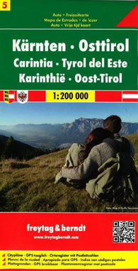 Buy map Austria, Carinthia and East Tyrol by Freytag-Berndt und Artaria