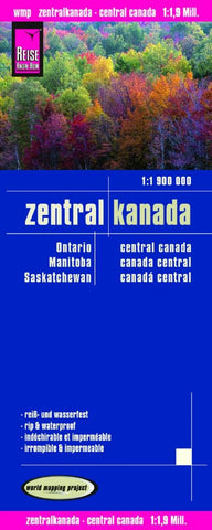 Buy map Canada, Central by Reise Know-How Verlag