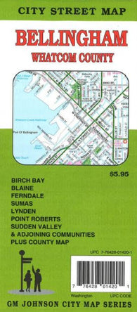 Buy map Bellingham and Whatcom County, Washington by GM Johnson