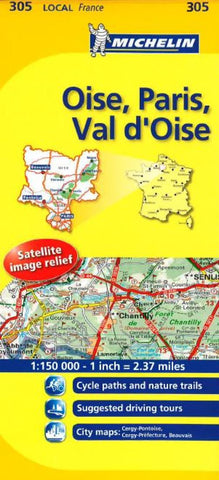 Buy map Oise, Paris, Val dOise (305) by Michelin Maps and Guides