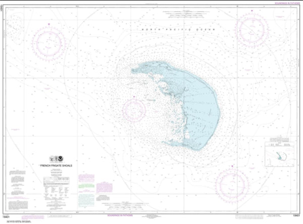 Buy map French Frigate Shoals (19401-9) by NOAA