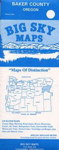 Buy map Baker County, Oregon by Big Sky Maps