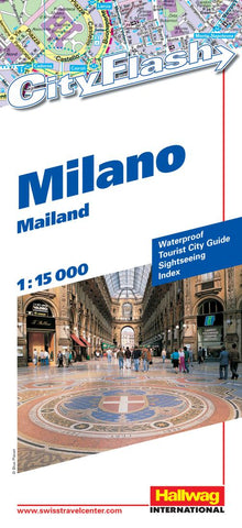 Buy map Milan, Italy City Flash Map by Hallwag