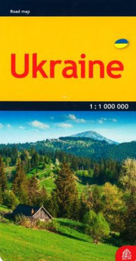 Buy map Ukraine, road map by Jana Seta