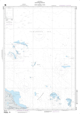 Buy map Northern Reaches To Cabo Gracias A Dios (NGA-28140-1) by National Geospatial-Intelligence Agency