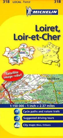 Buy map Loiret, Loir Et Cher (318) by Michelin Maps and Guides