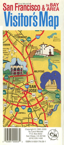 Buy map San Francisco Bay Area, California, Visitors Map by Carol Mendel