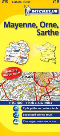 Buy map Mayenne, Orne, Sarthe (310) by Michelin Maps and Guides