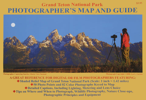 Buy map Grand Teton National Park, Wyoming, Photographers Map by Earthwalk Press