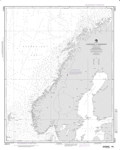 Buy map Lindesnes To Nordkapp (NGA-43015-12) by National Geospatial-Intelligence Agency