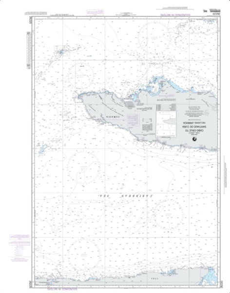 Buy map Cabo Cruz To Santiago De Cuba Including Jamaica (NGA-26220-6) by National Geospatial-Intelligence Agency