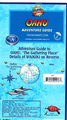 Buy map Oahu Adventure Guide by Frankos Maps Ltd.