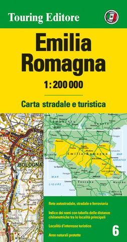Buy map Emilia-Romagna, Italy by Touring Club Italiano