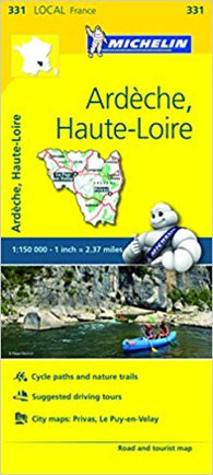 Buy map Ardeche, Haute Loire, France (331) by Michelin Maps and Guides