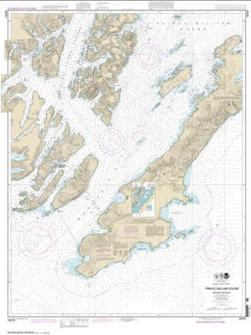 Buy map Prince William Sound-western entrance (16701-22) by NOAA