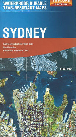 Buy map Sydney, Australia by Explore Australia