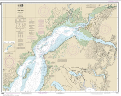 Buy map Cook Inlet-northern part (16660-31) by NOAA