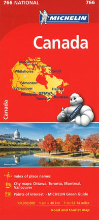 Buy map Michelin: Canada Road and Tourist Map by Michelin Maps and Guides