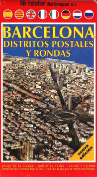 Buy map Barcelona, Districts, Postal and Rounds, Spain by Distrimapas Telstar, S.L.