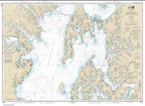 Buy map Chesapeake Bay Eastern Bay and South River; Selby Bay (12270-36) by NOAA